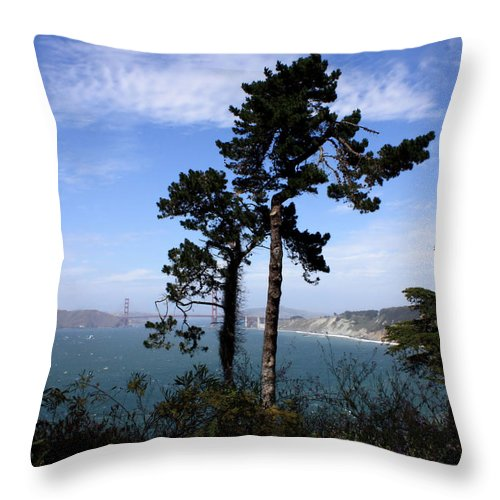 San Francisco Bay Throw Pillow featuring the photograph Overlooking The Bay by Carol Groenen