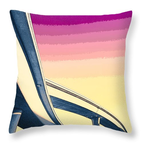 Overpass Throw Pillow featuring the mixed media Overpass One by Dominic Piperata