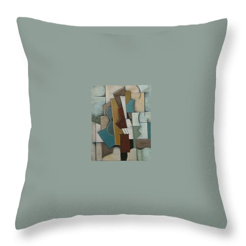 Cubism Throw Pillow featuring the painting Overture I by Trish Toro