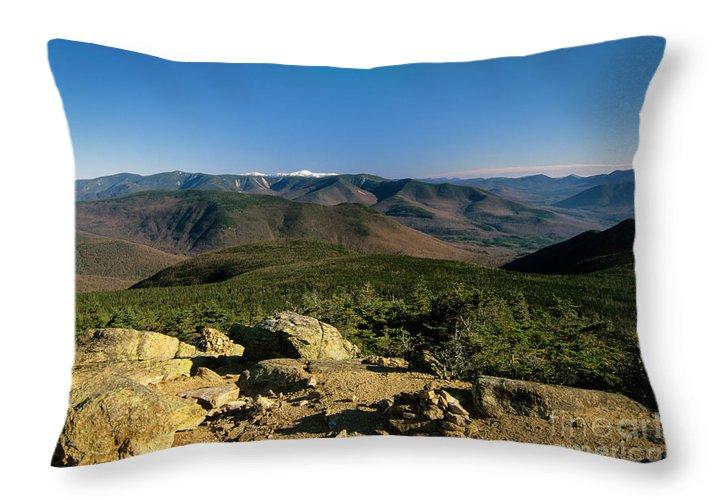 Adventure Throw Pillow featuring the photograph Owls Head - Pemigewasset Wilderness New Hampshire by Erin Paul Donovan