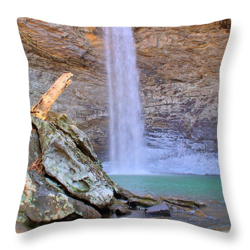 Ozone Throw Pillow featuring the photograph Ozone A 90 Foot Waterfall by Douglas Barnett