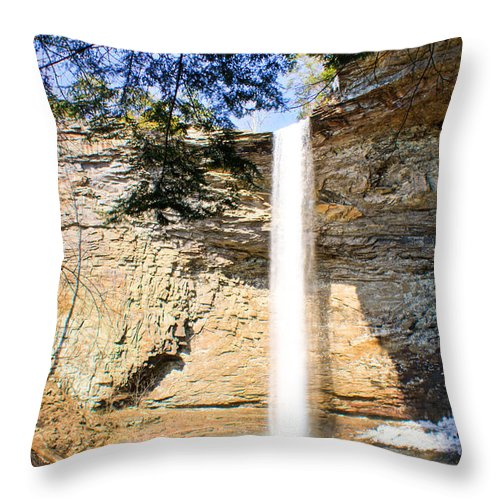 Ozone Throw Pillow featuring the photograph Ozone Falls Focus by Douglas Barnett