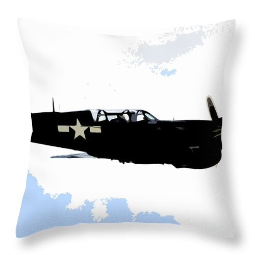 P 40 Throw Pillow featuring the painting P 40 by David Lee Thompson