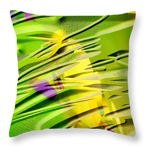 Scott Piers Throw Pillow featuring the painting P39b by Scott Piers
