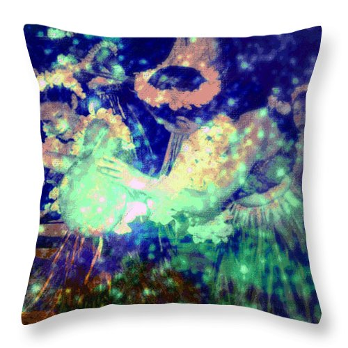 Tropical Interior Design Throw Pillow featuring the photograph Pa by Kenneth Grzesik