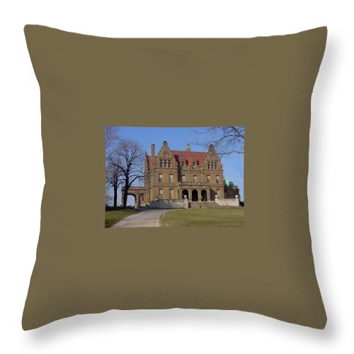 Pabst Mansion Throw Pillow featuring the photograph Pabst Mansion Photo by Anita Burgermeister