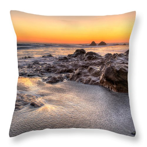Landscape Throw Pillow featuring the photograph Pacific Light by Josh Meier