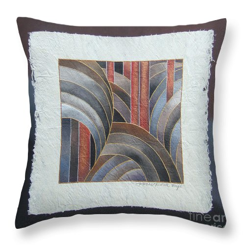 Fiji Islands Throw Pillow featuring the painting Pacific Palms II by Maria Rova