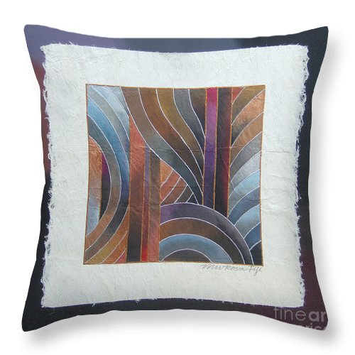 Fiji Islands Throw Pillow featuring the painting Pacific Palms V by Maria Rova