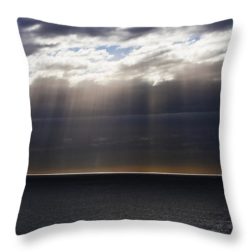 Throw Pillow featuring the photograph Pacific Storm by Sheila Smart Fine Art Photography
