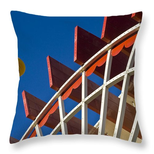 Paddlewheel Throw Pillow featuring the photograph Paddlewheel by Tim Hightower