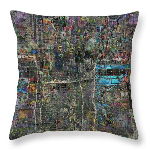 Stonehenge Throw Pillow featuring the digital art Pagan by Andy Mercer