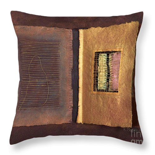 Pageformat Throw Pillow featuring the painting Page Format No 2 Transitional Series by Kerryn Madsen-Pietsch