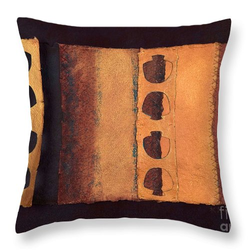 Pageformat Throw Pillow featuring the mixed media Page Format No 3 Tansitional Series  by Kerryn Madsen-Pietsch