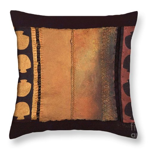 Artistbook Throw Pillow featuring the painting Page Format No.4 Tansitional Series by Kerryn Madsen-Pietsch