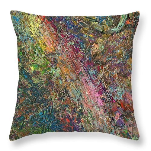 Abstract Throw Pillow featuring the painting Paint Number 27 by James W Johnson