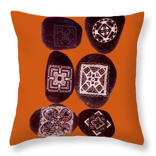 Square Throw Pillow featuring the digital art Painted Asteroids 11 by Eikoni Images