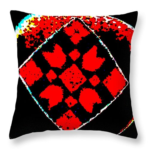 Square Throw Pillow featuring the digital art Painted Asteroids 6 by Eikoni Images