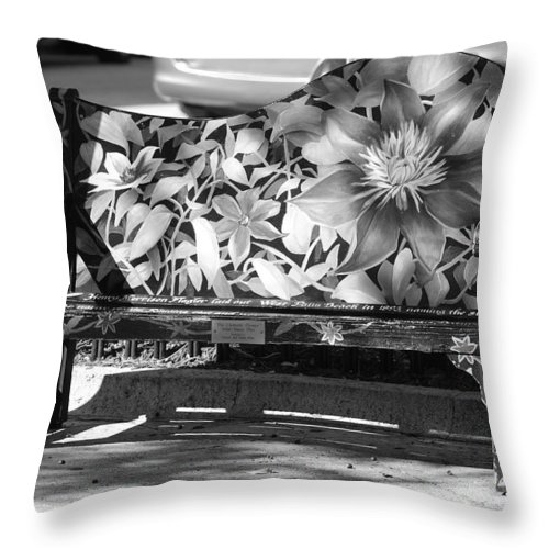 Pop Art Throw Pillow featuring the photograph Painted Bench by Rob Hans