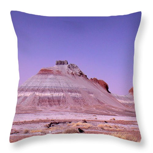 Painted Desert Throw Pillow featuring the photograph Painted Desert Tepees by Merja Waters