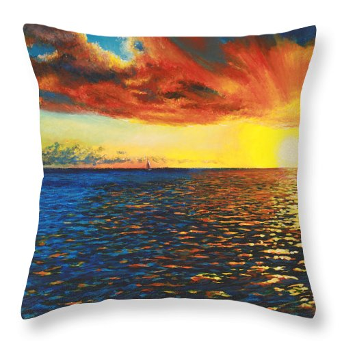 Chris Cox Throw Pillow featuring the painting Painted Horizon by Christopher Cox