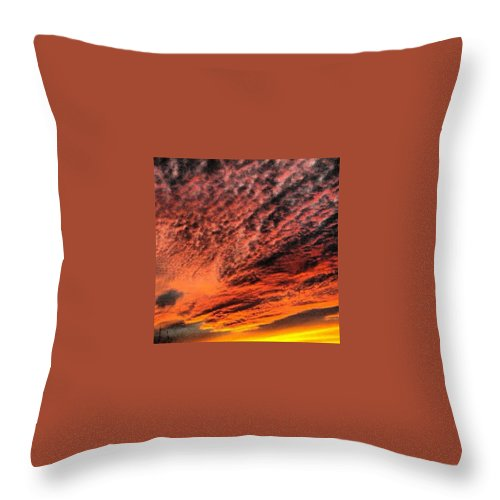 Throw Pillow featuring the photograph Painted Sunset by Richard Brooke