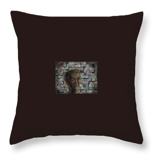 Inspiration Throw Pillow featuring the digital art Painters Block by Steve Hester