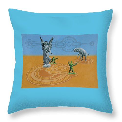 Throw Pillow featuring the painting Painting by Denisa Valasekova