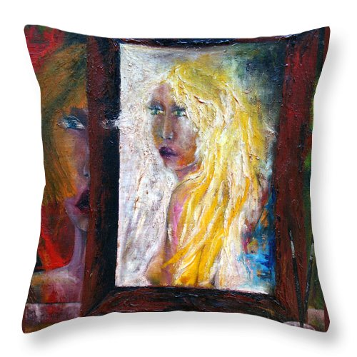 Imagination Throw Pillow featuring the painting Painting by Wojtek Kowalski