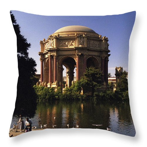 Palace Of Fine Arts Throw Pillow featuring the photograph Palace Of Fine Arts Sf by Lee Santa
