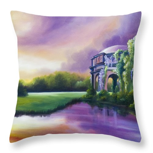 Marsh Throw Pillow featuring the painting Palace Of The Arts by James Christopher Hill