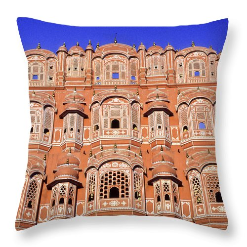 India Throw Pillow featuring the photograph Palace Of The Wind by Michele Burgess