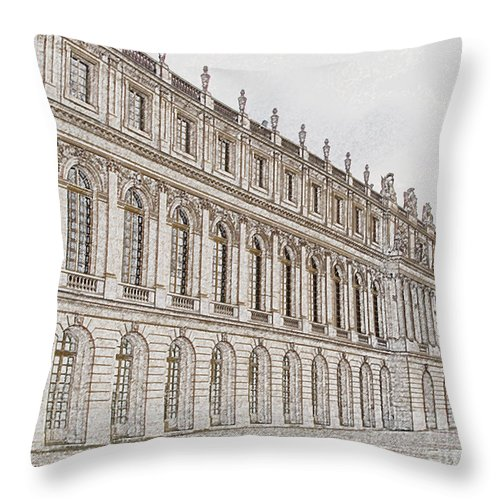 France Throw Pillow featuring the photograph Palace Of Versailles by Amanda Barcon