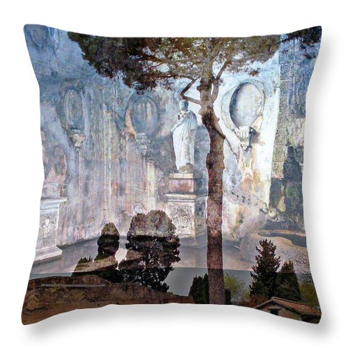 Rome Throw Pillow featuring the photograph Palatine Hill by Mindy Newman