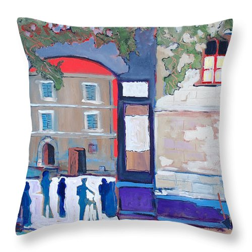 Village Throw Pillow featuring the painting Palazzo Di Villafranca by Kurt Hausmann