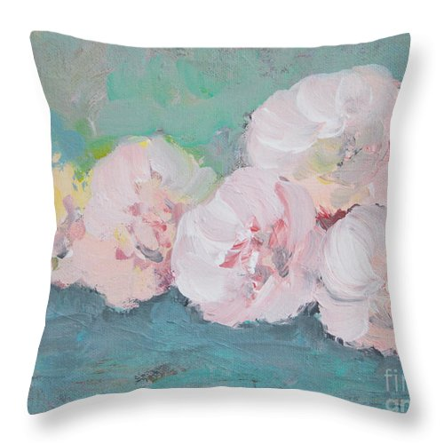 pale pink peonies throw pillow for sale by robin maria pedrero. Black Bedroom Furniture Sets. Home Design Ideas