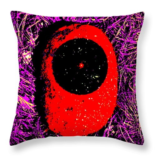 Square Throw Pillow featuring the digital art Paleolithic Observatory by Eikoni Images