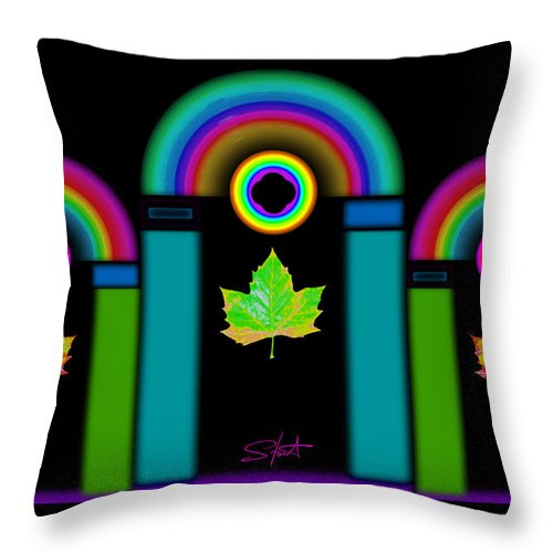 Classical Throw Pillow featuring the painting Palladian Fall by Charles Stuart