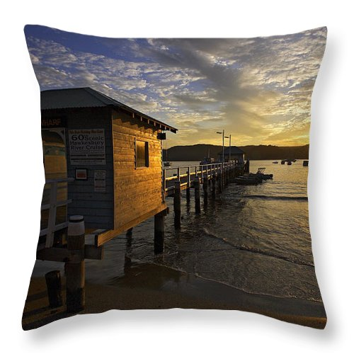 Palm Beach Sydney Australia Sunset Water Pittwater Throw Pillow featuring the photograph Palm Beach Sunset by Sheila Smart Fine Art Photography