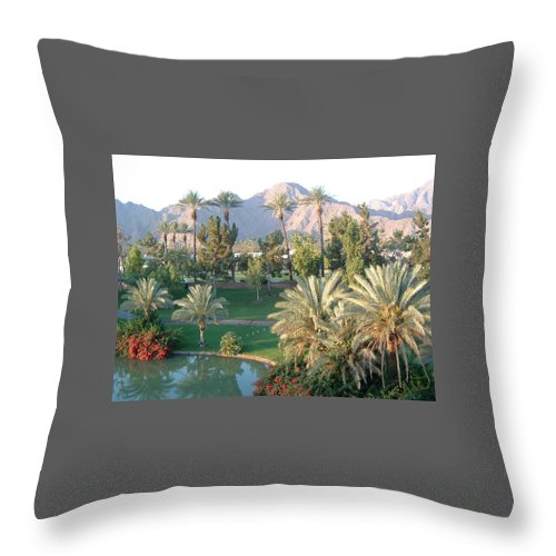 Landscape Throw Pillow featuring the photograph Palm Springs Ca by Cheryl Ehlers