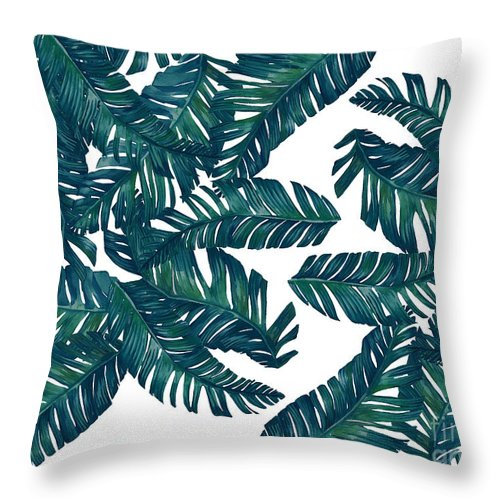Summer Throw Pillow featuring the photograph Palm Tree 7 by Mark Ashkenazi