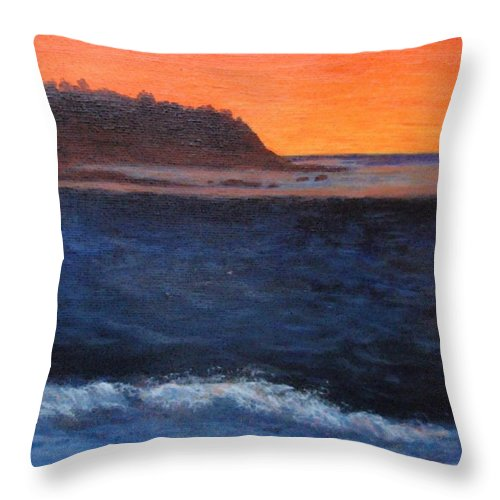 Sunset Throw Pillow featuring the painting Palos Verdes Sunset by Jamie Frier