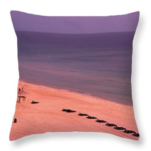Panama City Beach Throw Pillow featuring the photograph Panama City Beach by Ronnie Glover