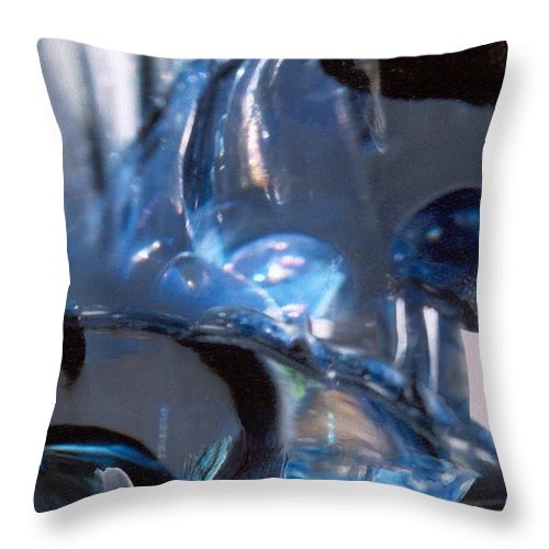 Glass Throw Pillow featuring the photograph Panel 2 from Swirl by Steve Karol