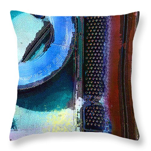 Abstract Throw Pillow featuring the photograph panel one from Centrifuge by Steve Karol