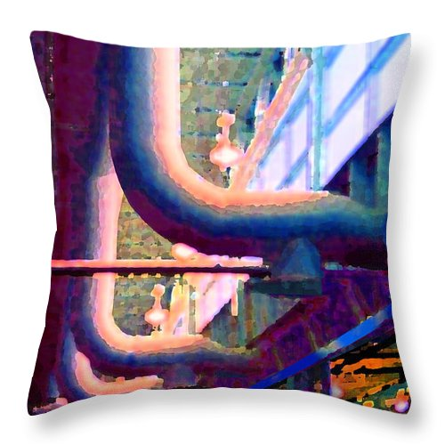 Abstract Throw Pillow featuring the photograph panel one from Star Factory by Steve Karol