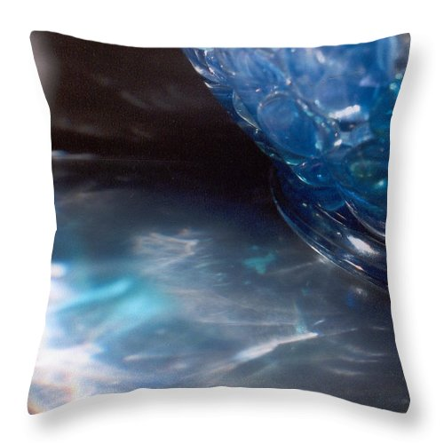 Abstract Throw Pillow featuring the photograph Panel One From Swirl by Steve Karol