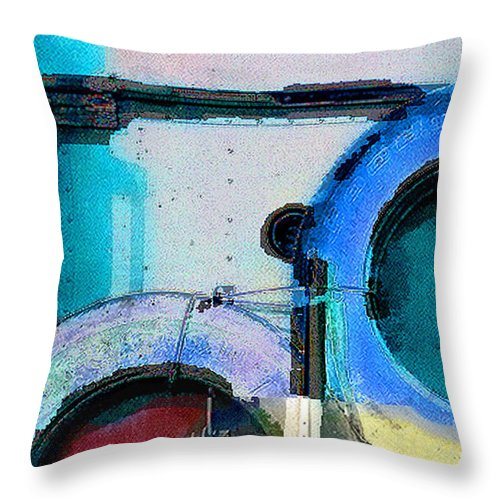Abstract Throw Pillow featuring the photograph panel three from Centrifuge by Steve Karol