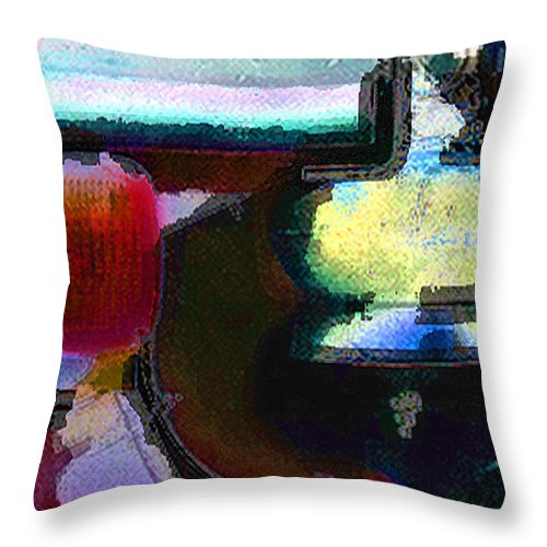Abstract Throw Pillow featuring the photograph panel two from Centrifuge by Steve Karol