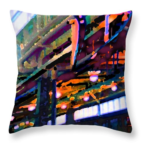 Abstract Throw Pillow featuring the photograph panel two from Star Factory by Steve Karol